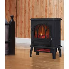 com electric quartz infrared fireplace stove heater with adjule thermostat home improvement