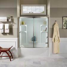 58 Inch Bathtub Shower Combo Ovation Curved 3 Piece Bathtub Wall Set American Standard