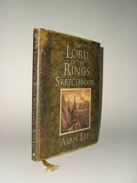 the lord of the rings sketchbook by alan lee 1st edition with