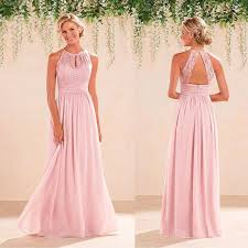 pink bridesmaid dresses 2017 pink halter bridesmaid dresses vintage lace a line cheap