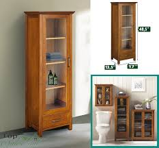 bathroom linen tower wood shelves tall cabinet storage towel