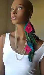 one feather earring green parrot feather chandelier earrings with