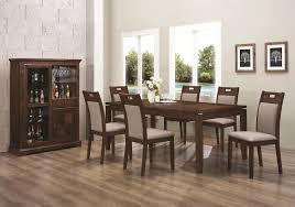 dining room trends long brown wooden table black steel legs plus bench ideas dining