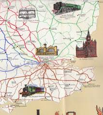 Map Of Britain Railway History Map Of Britain South East Edge Hill Station