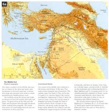 Middle Eastern Map Map Of The Middle East During Biblical Times Image Gallery Hcpr