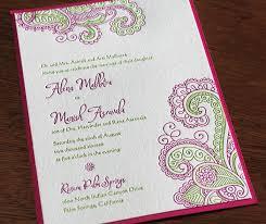 Modern Indian Wedding Invitations Indian Letterpress Wedding Invitation Gallery Chandra