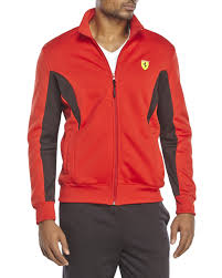 ferrari jacket puma ferrari softshell jacket in red for men lyst