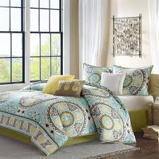 Buy Bedding Sets by Bedroom Queen Size Bed With Brown Blue And Yellow Bedding