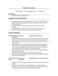 Medical Assistant Duties Resume Medical Assistant Objective Lukex Co