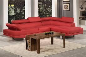 carmine linen sectional sofa poundex f7550