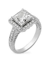 faux engagement rings moissanite princess cut halo engagement ring gold my faux
