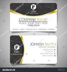 black gold modern creative business card stock vector 549573550