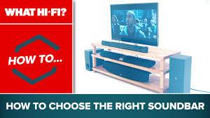how to choose the right soundbar youtube