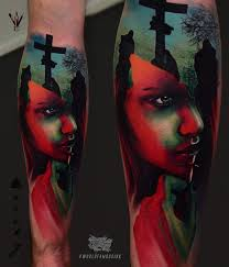 42 impressive graveyard and cemetery tattoo designs for love of