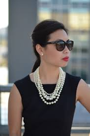 pearls necklace dress images The little black dress pearls janna doan