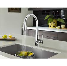 touch free kitchen faucet polished chrome lita touch free pull kitchen faucet with