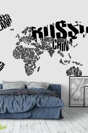 33 best map wall murals images on pinterest photo wallpaper white typographical world map wall mural wallpaper