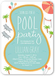 party invitation birthday pool party 5x7 boy birthday invitations shutterfly