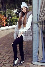 straight hair with outfits fashion street outfit beautiful glamour girl with dark straight