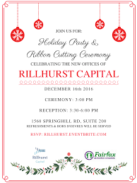 Office Opening Invitation Card Rillhurst Capital New Office Grand Opening U0026 Ribbon Cutting