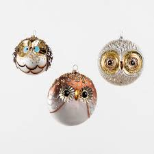 glass owl tree ornaments modern design by moderndesign org