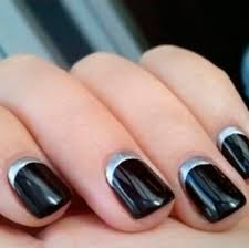 stylish half moon nail gallery of half moon nail design at