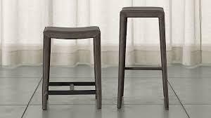 bar stool pics folio top grain leather backless bar stools crate and barrel