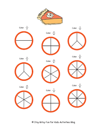 halloween division and fractions worksheets kids activities