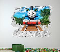 thomas tank engine colour wall sticker girls boys