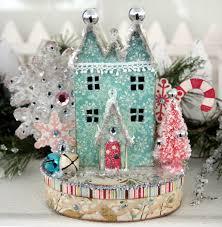 ally scraps vintage christmas village