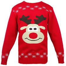 christmas jumper mens knitted christmas jumper rudolph print in warm