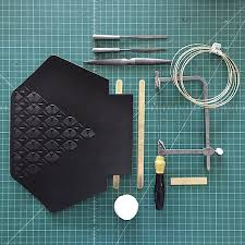 animal handmade embossed leather goods made in usa