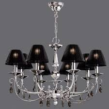 Chandelier With Black Shade And Crystal Drops 4 Best Chandelier Shades For Your Lovely Living Room