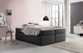 Betten Schlafzimmer Amazon Möbelfreude Boxspringbett Bella Anthrazit 140x200cm H2 Inkl
