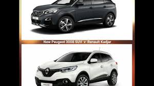 new peugeot sports car new peugeot 3008 suv v renault kadjar uk version youtube