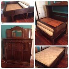 antique oak murphy bed cabinet bed comefortable to sleep on