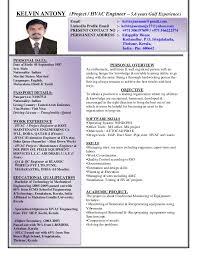 Sample Resume India by Hvac Project Engineer Sample Resume Haadyaooverbayresort Com