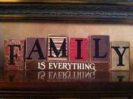 family is everything wood blocks wood sign home decor home