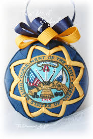 army ornament handmade quilted this we ll defend