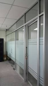 Partition Wall by Aluminium Frame Office Partition Wall Contractor Designer