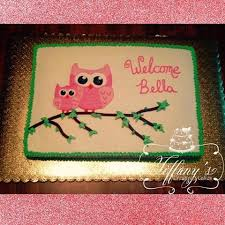 baby owl baby shower cake all buttercream 1 2 sheet cake