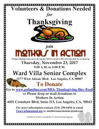 mothers in 22nd annual thanksgiving day senior feed 94 7