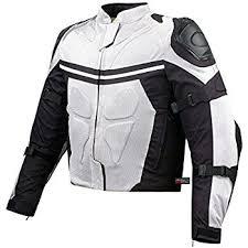white motorcycle jacket amazon com pro mesh motorcycle jacket rain waterproof white l