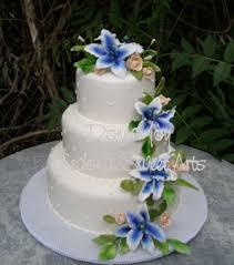 blue flowers for wedding sugar flowers cake pastillage flowers