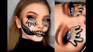 golden skull tutorial easy halloween makeup youtube