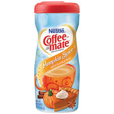 pumpkin spice for coffee my brands nestle coffee mate powder creamer pumpkin spice 15 oz jar