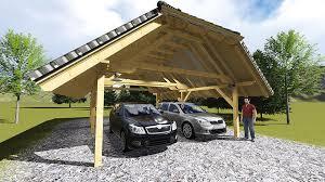 tettoia auto legno tettoia per posto auto in legno veko maison