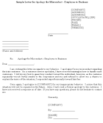 Explanation Letter Due To Negligence sle letter for apology for misconduct employee to business template