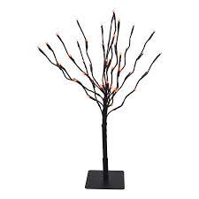 shop fantastic craft pre lit metal tabletop tree with orange led