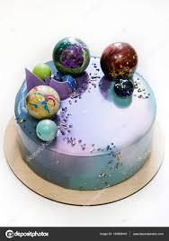 mirror glaze cake modern trendy mousse cake with violet blue marble mirror glaze on